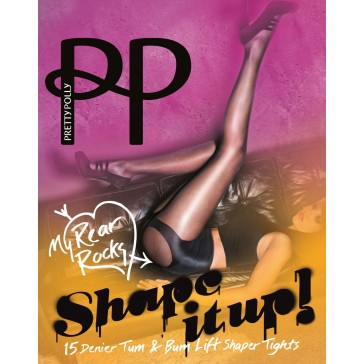 Pretty Polly Shape It Up Tum & Bum Shaper Tights