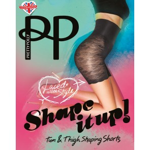 Pretty Polly Shape It Up Lace Shaper Short